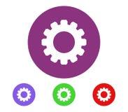 Grupo do ícone da engrenagem ilustração stock