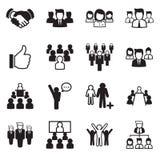 Grupo do ícone da equipe do negócio Ilustração Stock