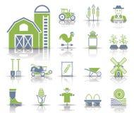 Grupo do ícone da exploração agrícola ilustração do vetor