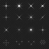 Grupo do ícone da faísca ilustração stock