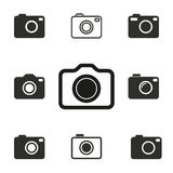 Grupo do ícone da foto Fotos de Stock