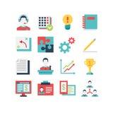 Grupo do ícone da gestão Imagens de Stock Royalty Free