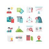 Grupo do ícone da gestão Fotos de Stock