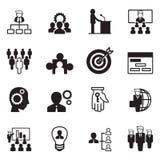 Grupo do ícone da gestão Foto de Stock