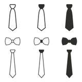 Grupo do ícone da gravata Foto de Stock