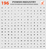Grupo do ícone da indústria Imagem de Stock Royalty Free