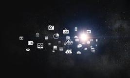 Grupo do ícone da interface de utilizador Foto de Stock Royalty Free