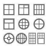Grupo do ícone da janela, símbolo do vetor ilustração royalty free