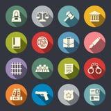 Grupo do ícone da lei Imagem de Stock Royalty Free