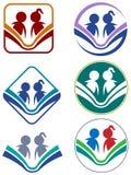 Grupo do ícone da leitura ilustração do vetor