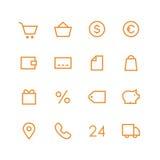 Grupo do ícone da loja Imagem de Stock
