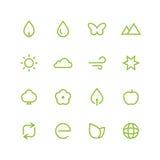 Grupo do ícone da natureza Foto de Stock Royalty Free