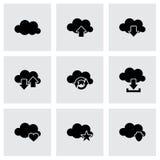 Grupo do ícone da nuvem do vetor Fotografia de Stock