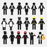 Grupo do ícone da ocupação ilustração royalty free