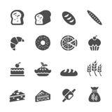 Grupo do ícone da padaria, vetor eps10 Fotos de Stock Royalty Free