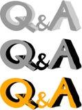 Grupo do ícone da pergunta e resposta Imagem de Stock