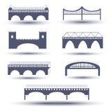 Grupo do ícone da ponte do vetor Foto de Stock Royalty Free