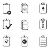 Grupo do ícone da prancheta Imagens de Stock