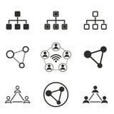 Grupo do ícone da rede Fotografia de Stock Royalty Free