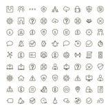 Grupo do ícone da relação ilustração stock