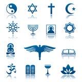 Grupo do ícone da religião ilustração stock