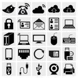 Grupo do ícone da série de Simplus Fotografia de Stock