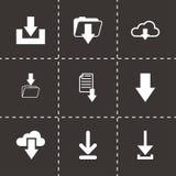 Grupo do ícone da transferência do preto do vetor Imagem de Stock