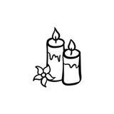Grupo do ícone da vela dos termas Fotos de Stock