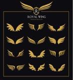 Grupo do ícone das asas ilustração royalty free