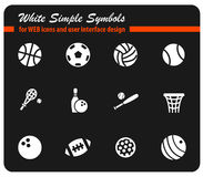 Grupo do ícone das bolas do esporte fotografia de stock royalty free