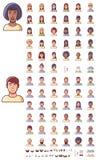 Grupo do ícone das caras do vetor Imagens de Stock