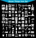 Grupo do ícone das coisas da casa Foto de Stock