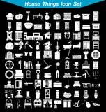 Grupo do ícone das coisas da casa Imagens de Stock Royalty Free