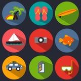 Grupo do ícone das férias Foto de Stock
