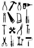 Grupo do ícone das ferramentas ilustração stock