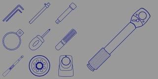 Grupo do ícone das ferramentas ilustração royalty free
