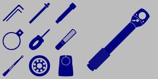 Grupo do ícone das ferramentas ilustração do vetor