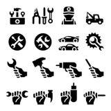 Grupo do ícone das ferramentas Imagem de Stock