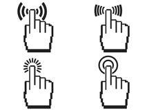 Grupo do ícone das mãos do pixel Imagem de Stock Royalty Free