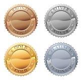 Grupo do ícone das medalhas ilustração stock