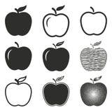 Grupo do ícone de Apple Foto de Stock