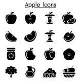Grupo do ícone de Apple ilustração do vetor