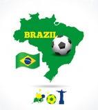 Grupo do ícone de Brasil Fotografia de Stock Royalty Free