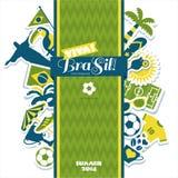 Grupo do ícone de Brasil Foto de Stock Royalty Free