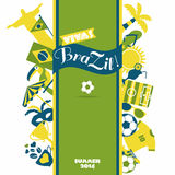 Grupo do ícone de Brasil Imagem de Stock Royalty Free