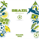 Grupo do ícone de Brasil Imagens de Stock Royalty Free