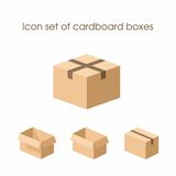 Grupo do ícone de caixas de cartão Foto de Stock Royalty Free