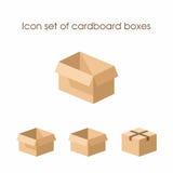 Grupo do ícone de caixas de cartão Foto de Stock