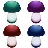 grupo do ícone de 4 cogumelos isolado em um branco Imagem de Stock Royalty Free