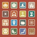 Grupo do ícone de Dia das Bruxas. Imagem de Stock Royalty Free